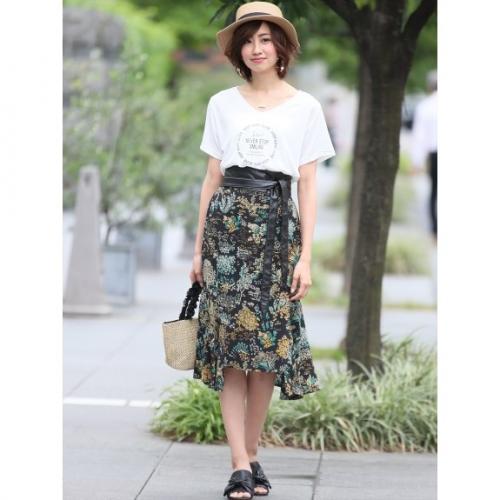 花柄マーメイドスカート