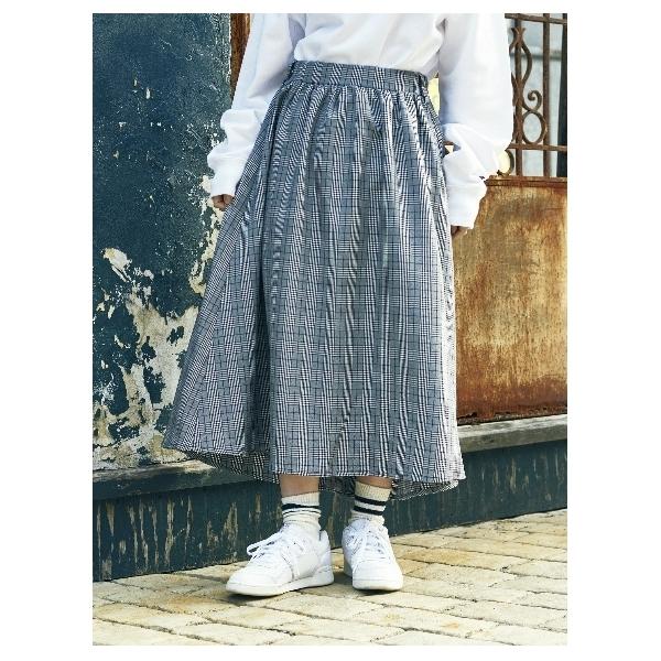 ・グレンチェックイレヘムスカート