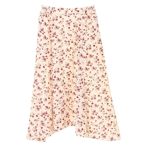 ・花柄ギャザースカート