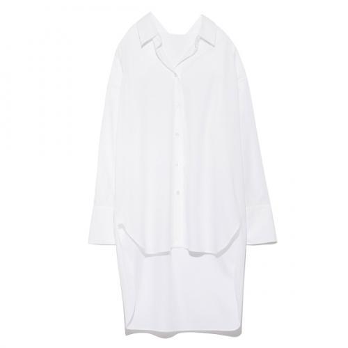 ウオッシャブルカメリアバックロングシャツ