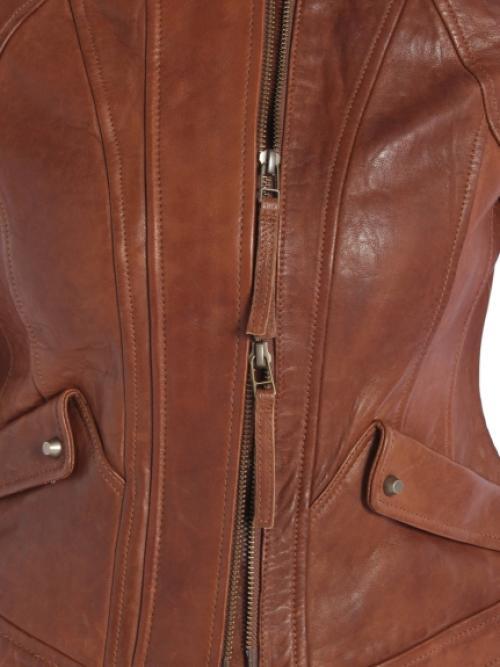 ラムレザーダブルZIP シングルライダースジャケット