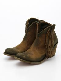 CABORCA Side Fringed Short Boots
