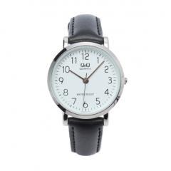 Q&Q フェイクレザーベルト腕時計