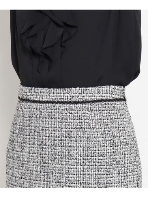 [L]ブライトツイードスカート