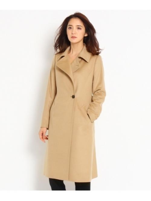 [L]ベルト付きカシミヤビーバーコート