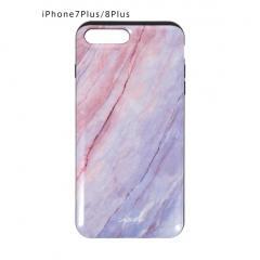 <7Plus/8Plus専用>AURORA STONEカードケース内蔵型iPhoneケース