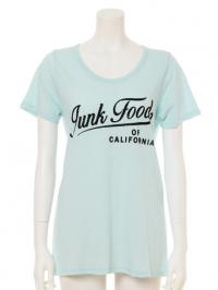 JUNKFOOD フロッキーロゴプリント チュニックTシャツ