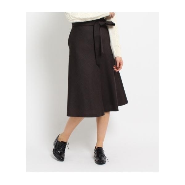 フレアAライン千鳥格子スカート