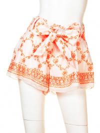 【juliet dunn】cotton criss cross print shorts