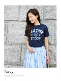 カレッジロゴプリントTシャツ