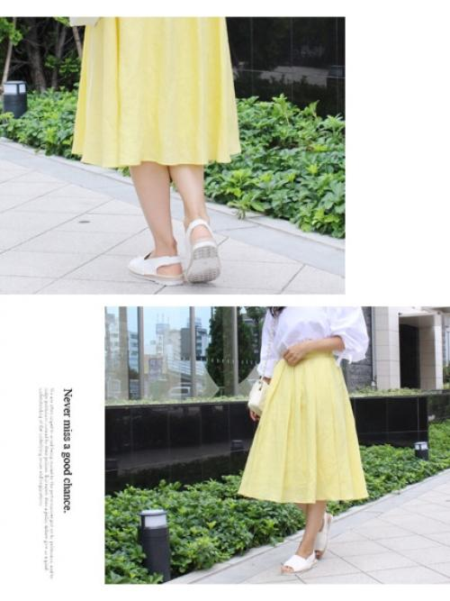 リネンフレアカラースカート