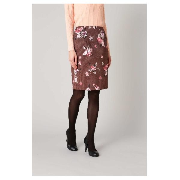 ジャガードフラワープリントスカート