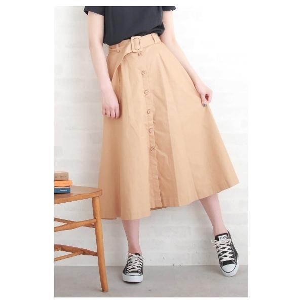 チノフレアベルト付スカート