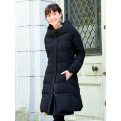 RIBBON SLEEVE COUTURE DOWN COAT