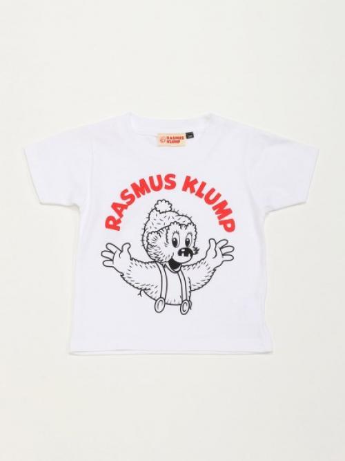 【KIDS】【ラスムス クルンプ】半袖Tシャツ100cm リョウテWH 【ラスムス クルンプ】15-K-03SS