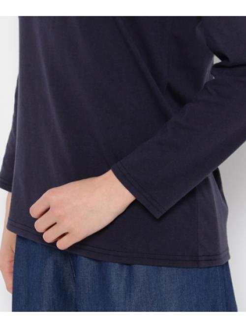 シンプルロゴ9分袖カットソー