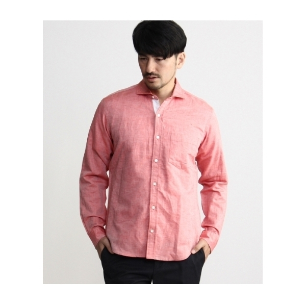 ドビーシャンブレーホリゾンタルシャツ