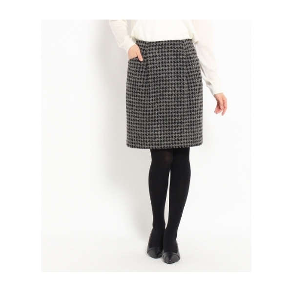 [L]千鳥ツイードスカート