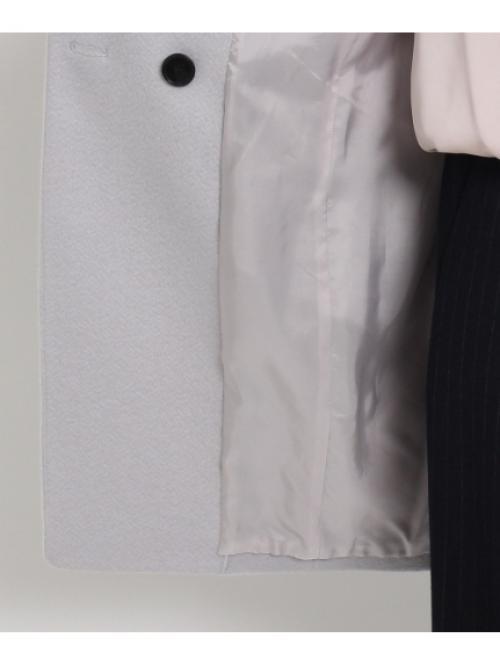 [L]カッティングカラービーバーコート