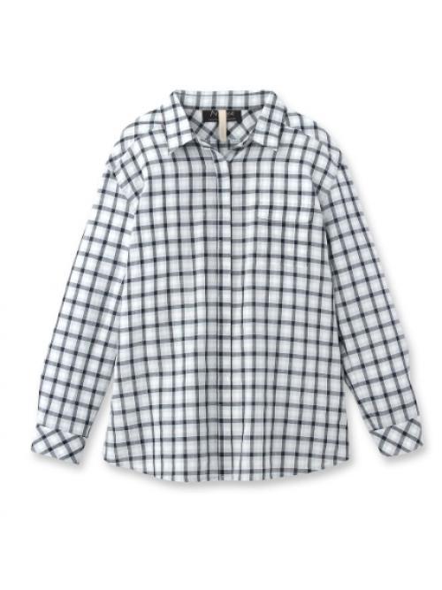 【VERY4月号掲載】[L]コットンリネンリラックスチェックシャツ