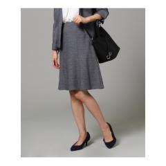 [L]ウール混台形スカート