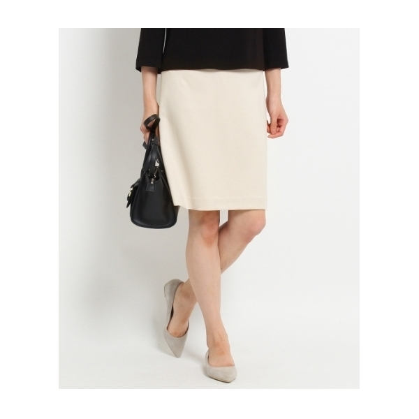 [L]グログランストレッチスカート