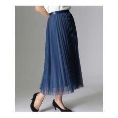 〔洗える〕チュールプリーツスカート