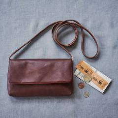 10%OFFクーポン対象商品 【送料無料】 鞄職人の本革仕立て 大人のウォレットショルダー〈コーヒーブラウン〉[本革 お財布ポシェット:日本製] クーポンコード:KZUZN2T