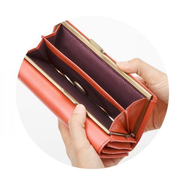 e7eebd113778 LOHACO - 【送料無料】 職人が誂(あつら)えた上質本革がま口付き長財布 ...