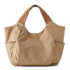 【送料無料】使いやすさ5つ星! 毎日持ちたい軽心地バルーントートバッグ 〈ベージュ〉