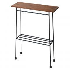 【送料無料】 スリムで少し背が高い ちょい置き細長テーブル〈ブラック〉