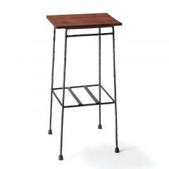 【送料無料】 少し背の高い ちょい置きマイカフェテーブル〈ブラック〉
