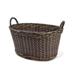 10%OFFクーポン対象商品 アンティークのようなたたずまい タフに使える手編みバスケット〈タイプ2〉 クーポンコード:KZUZN2T