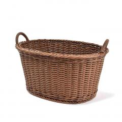 10%OFFクーポン対象商品 アンティークのようなたたずまい タフに使える手編みバスケット〈タイプ3〉 クーポンコード:KZUZN2T