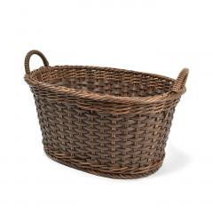 10%OFFクーポン対象商品 アンティークのようなたたずまい タフに使える手編みバスケット〈タイプ4〉 クーポンコード:KZUZN2T