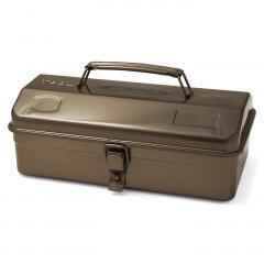 老舗工場で作られる レトロなスチール工具箱〈珈琲ブラウン〉
