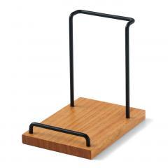 10%OFFクーポン対象商品 家具職人が手づくり 木とスチールのリモコンスタンド クーポンコード:KZUZN2T