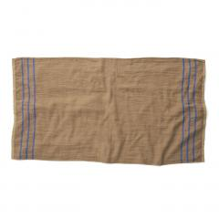 10%OFFクーポン対象商品 古着屋さんで見つけたような リネンガーゼと綿パイルのバスタオル〈カーキ〉 クーポンコード:KZUZN2T