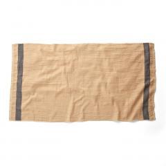 10%OFFクーポン対象商品 古着屋さんで見つけたような リネンガーゼと綿パイルのバスタオル〈アイボリー〉 クーポンコード:KZUZN2T