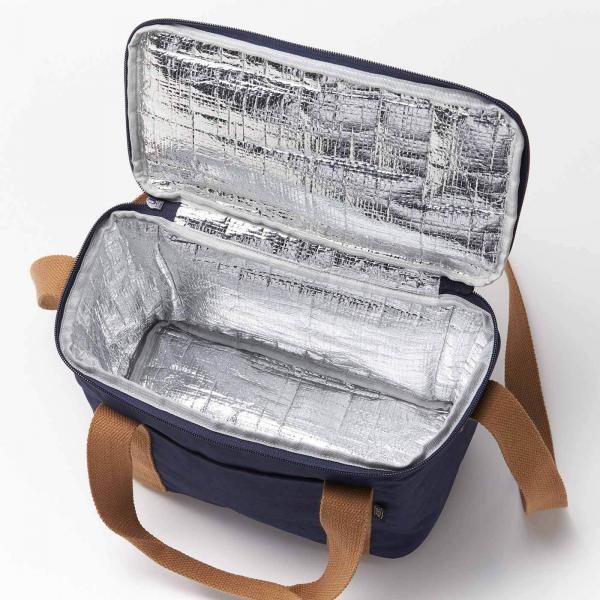 たっぷり入る ナイロン保冷バッグ〈スカーレット〉