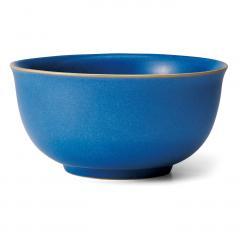 味わい深い青のボーイッシュ丼鉢〈ライトブルー〉