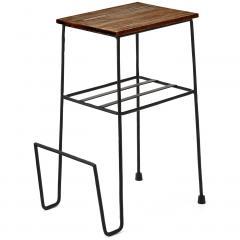 【送料無料】便利に使えるブックホルダー付きミニテーブルの会