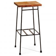【送料無料】とっても無骨な マイカフェテーブル 〈ブラック〉