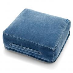 【送料無料】古着屋さんでみつけたような インディゴ染めコーデュロイザブトン 〈ブルー〉