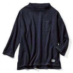 【送料無料】古着屋さんで見つけたような 接結やわらかTシャツ〈ネイビー〉