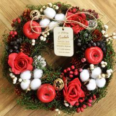 クリスマスリース Mサイズ G.コットンツリー  季節のインテリア アートリース 送料無料(一部地域を除く)