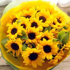 夏限定 ひまわり30本の花束 生花 送料無料 誕生日 記念日 お祝い 父の日 ギフト