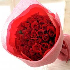 フラワーギフト 50本バラの花束 レッド系 生花 送料無料