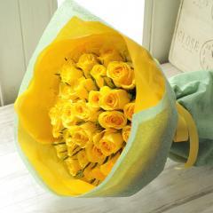 フラワーギフト 50本バラの花束 イエロー系 生花 送料無料