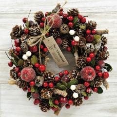クリスマスリース I.アップルベリー 季節のインテリア アートリース 送料無料(一部地域を除く)